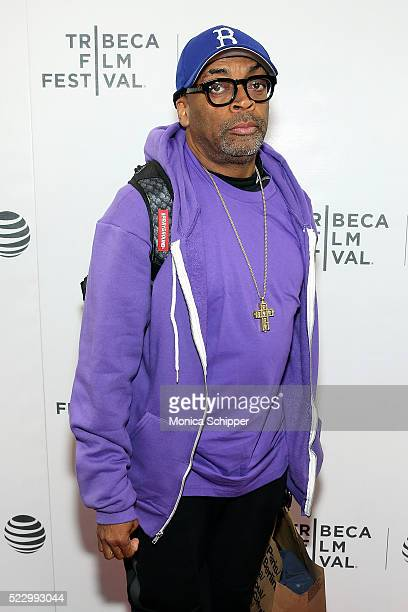 Director Spike Lee of film '2 Fists Up' attends Tribeca Film Festival Shorts Sports Shorts on April 22 2016 in New York City