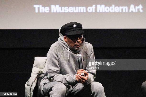 Director Spike Lee on stage during MoMA's Contenders Screening of BlacKkKlansman at the MoMA Titus One theater on November 25 2018 in New York City