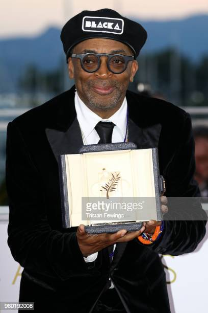 Director Spike Lee poses with the Grand Prix award for 'BlacKkKlansman' at the Palme D'Or Winner Photocall during the 71st annual Cannes Film...