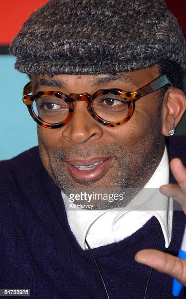 Director Spike Lee promotes Miracle at St Anna at JR Music and Computer World on February 13 2009 in New York City