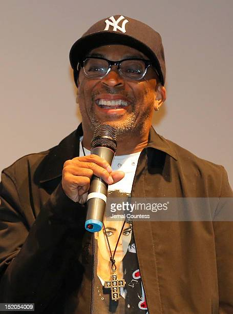 Director Spike Lee speaks at the Bad 25 Premiere during the 2012 Toronto International Film Festival held at the Ryerson Theatre on September 15 2012...
