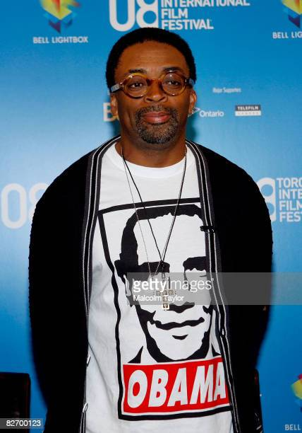 Director Spike Lee speaks at the Miracle At St Anna press conference during the 2008 Toronto International Film Festival held at the Sutton Place...
