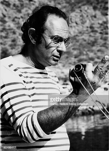 Director Stanley Donen on the set of the movie 'Lucky Lady' 1975
