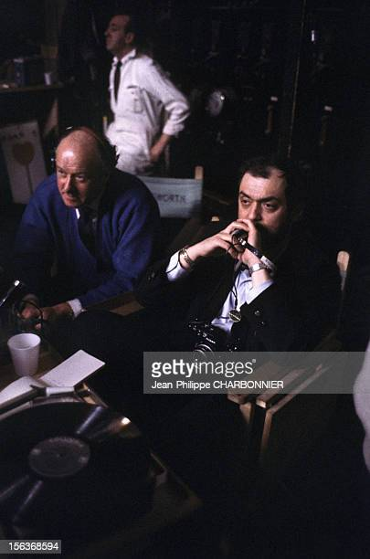 Director Stanley Kubrick on the film set for the shooting of '2001: A Space Odyssey' in 1968 in the United Kingdom.