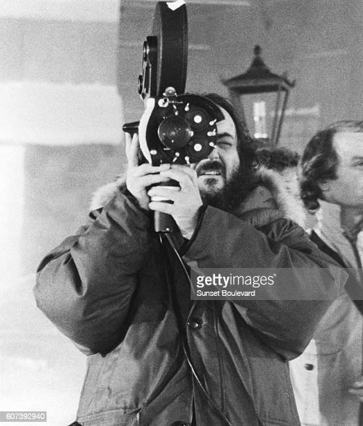 Director Stanley Kubrick on the set of The Shining