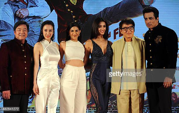Director Stanley Tong Chinese actress Miya Muqi Indian Bollywood actress Amyra Dastur and Disha Patani Hong Kong movie star Jackie Chan and Bollywood...