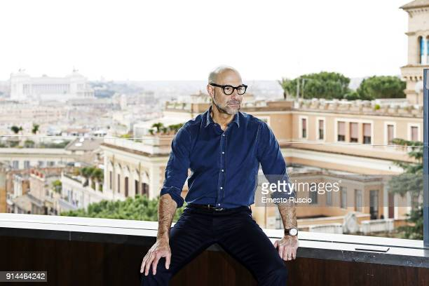 Director Stanley Tucci attends 'Final Portrait' photocall at Hotel Eden on February 5 2018 in Rome Italy