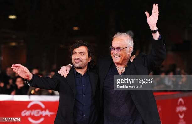 Director Stefano Veneruso and musician Franco Califano attends the Noi di Settembre Premiere during the 6th International Rome Film Festival at...