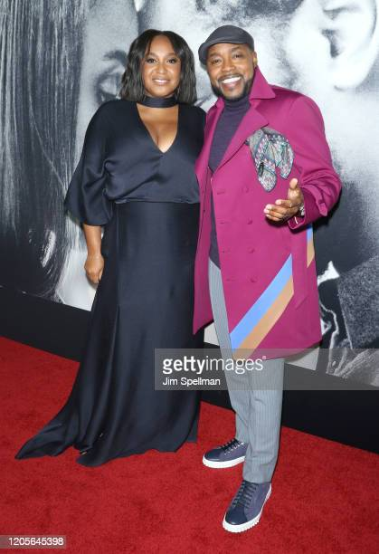 Director Stella Meghie and producer Will Packer attend the The Photograph world premiere at SVA Theater on February 11 2020 in New York City