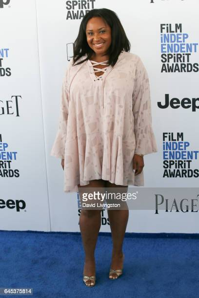 Director Stella Meghie attends the 2017 Film Independent Spirit Awards on February 25 2017 in Santa Monica California