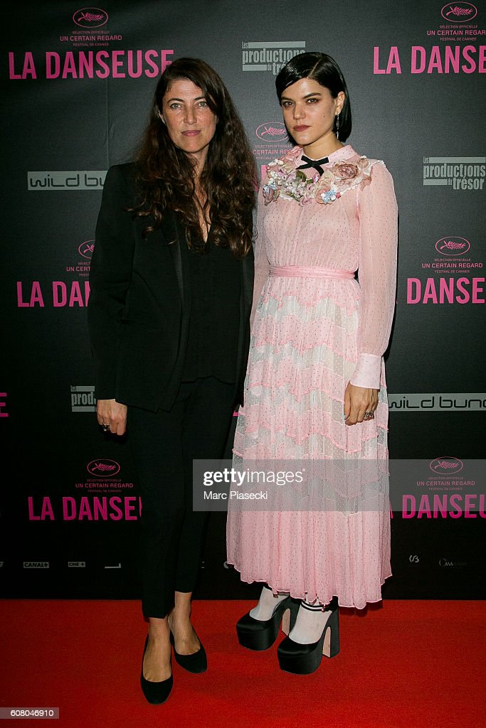 Director Stephanie Di Giusto and actress Stephanie Sokolinski a.k.a. SoKo attend the 'La Danseuse' Premiere at Cinema Gaumont Opera on September 19, 2016 in Paris, France.