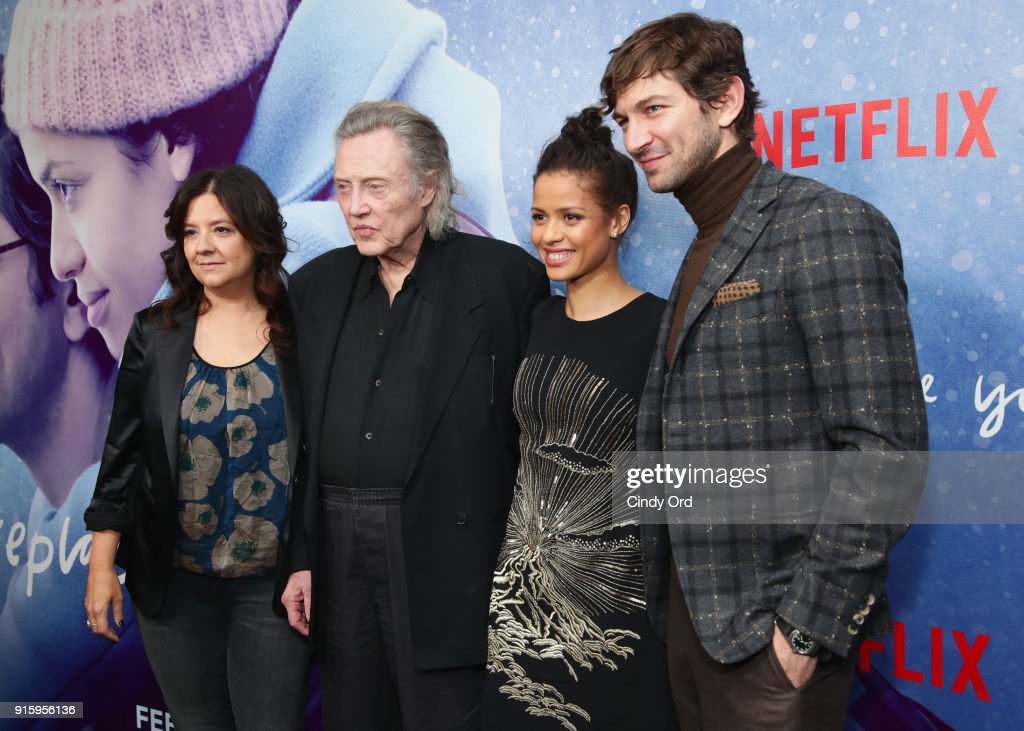 Director Stephanie Laing, Christopher Walken, Gugu Mbatha-Raw, and Michiel Huisman attend the Special Screening of the Netflix Film 'Irreplaceable You' at The Metrograph on February 8, 2018 in New York City.