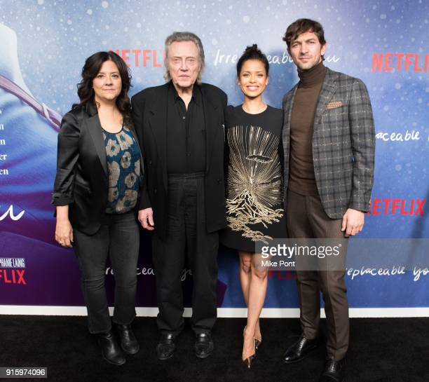 Director Stephanie Laing Christopher Walken Gugu MbathaRaw and Michiel Huisman attend the Irreplaceable You New York screening at Metrograph on...