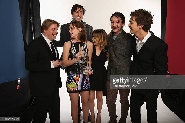 Director Stephen Chbosky and actors Emma Watson Nicholas Braun Mae Whitman Ezra Miller and Johnny Simmons pose for a portrait during the 39th Annual...