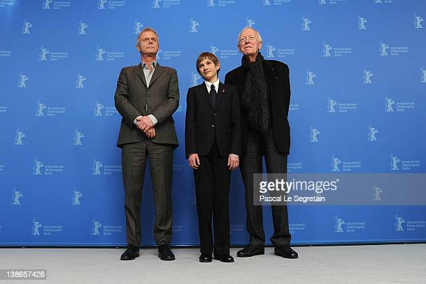 Director Stephen Daldry and actors Thomas Horn and Max von Sydow attend the Extremely Loud And Incredibly Close Photocall during day two of the 62nd...