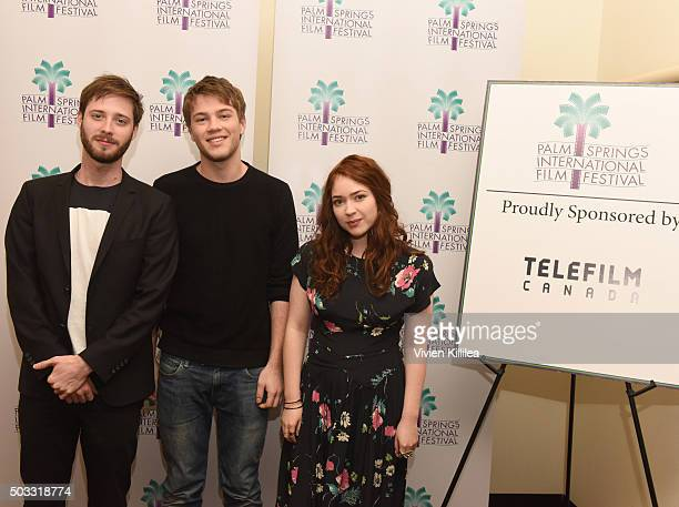 Director Stephen Dunn actor Connor Jessup and actress Sofia Banzhaf attend the US Premiere of Closet Monster at the 27th Annual Palm Springs...