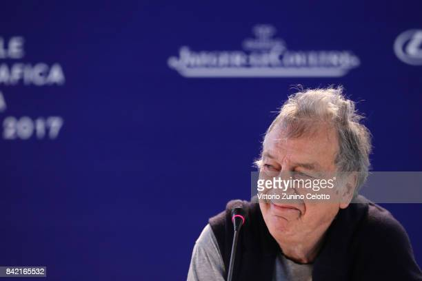 Director Stephen Frears attends the Victoria Abdul and JaegerLeCoultre Glory to the Filmmake Award Press Conference during the 74th Venice...