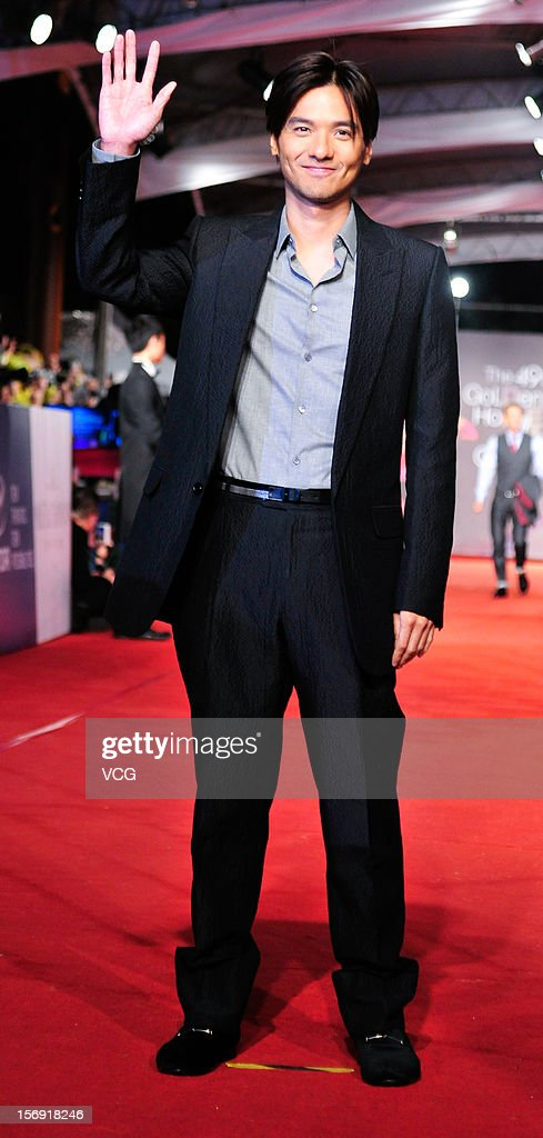 Director Stephen Fung arrive at the red carpet of the 49th Golden Horse Awards at the Luodong Cultural Working House on November 24, 2012 in Ilan, Taiwan.