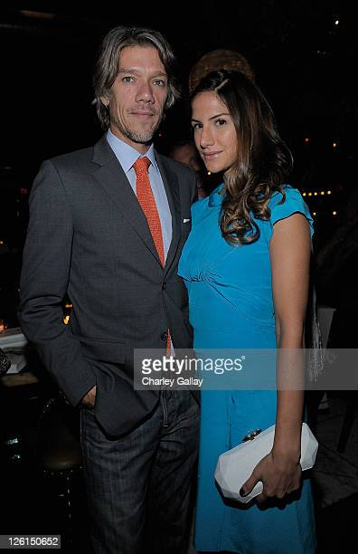 Director Stephen Gaghan and Minnie Mortimer attend CHANEL and Liz Goldwyn Celebrate Chanel Her Life By Justine Picardie at Soho House on September 22...