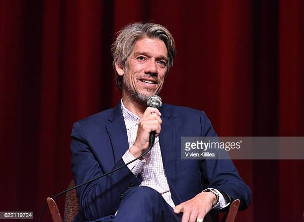 Director Stephen Gaghan speaks during a QA at TWCDimension Celebrates The Cast And Filmmakers Of Gold on November 9 2016 in Los Angeles California