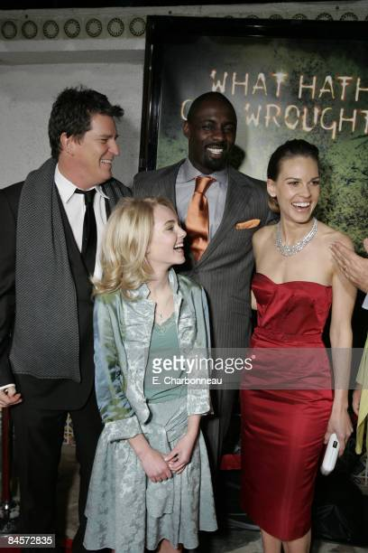 Director Stephen Hopkins AnnaSophia Robb Idris Elba and Hilary Swank