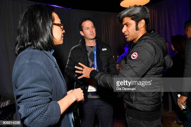 Director Stephen Maing Film Festival Director of Programming Trevor Groth and Hussain Currimbhoy attend the Filmmakers Welcome Reception during the...