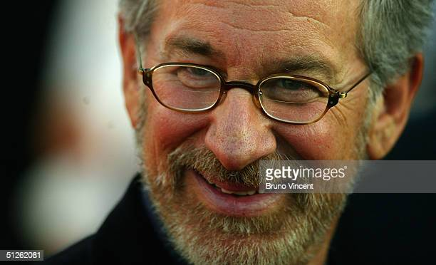 Director Stephen Spielberg attends the 'The Terminal' Premiere at the 30th Deauville American Film Festival on September 4 2004 in Deauville France
