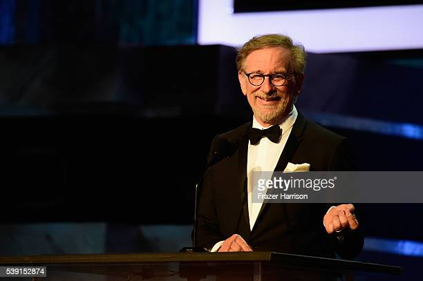 Director Stephen Spielberg onstage during American Film Institute's 44th Life Achievement Award Gala Tribute show to John Williams at Dolby Theatre...