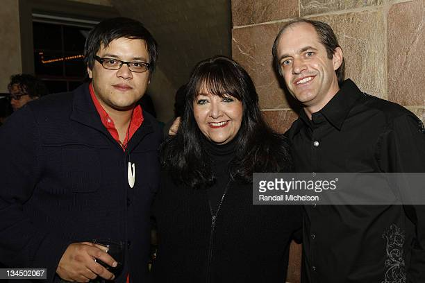 Director Sterlin Harjo BMI Executive Doreen Ringer Ross and Composer Ryan Beveridge attend the BMI Dinner during the 2009 Sundance Film Festival at...