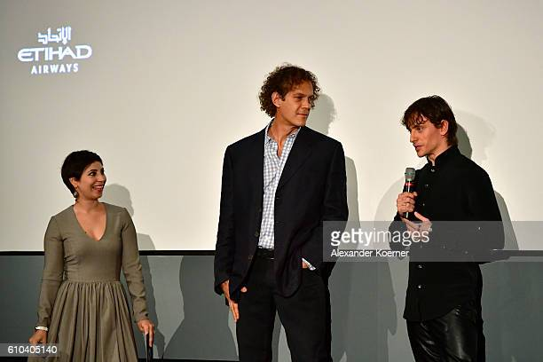 Director Steve Cantor and Sergei Polunin talk during the 'Dancer' Premiere during the 12th Zurich Film Festival on September 25 2016 in Zurich...
