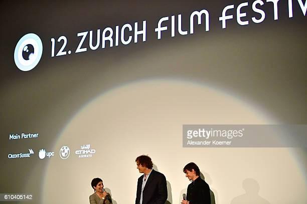 Director Steve Cantor and Sergei Polunin talk during the 'Dancer' Premiere during the 12th Zurich Film Festival on September 25 2016 in Zurich...