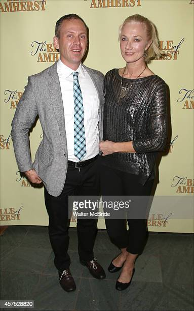 Director Steve Cosson and Joely Richardson attend the OffBroadway Opening Night Press reception for 'The Belle of Amherst' at the Westside Theatre on...