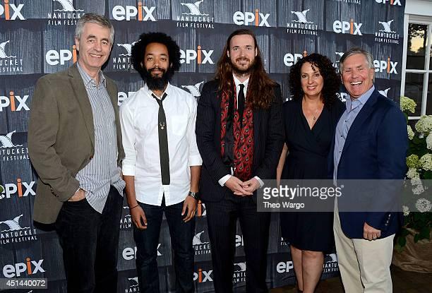 Director Steve James comedian Wyatt Cenac director Mike Cahill founder of the Nantucket Film Fesitval Jill Burkhart and Epix CEO Mark Greenberg...