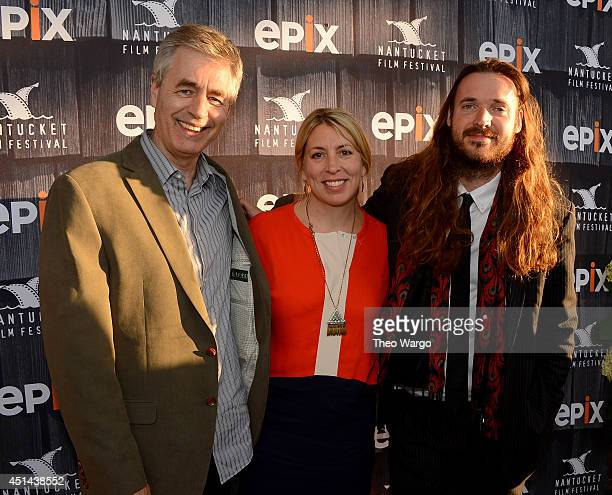 Director Steve James executive director of Nantucket Film Festival Mystelle Brabbee and director Mike Cahill attend The Screenwriters Tribute Awards...