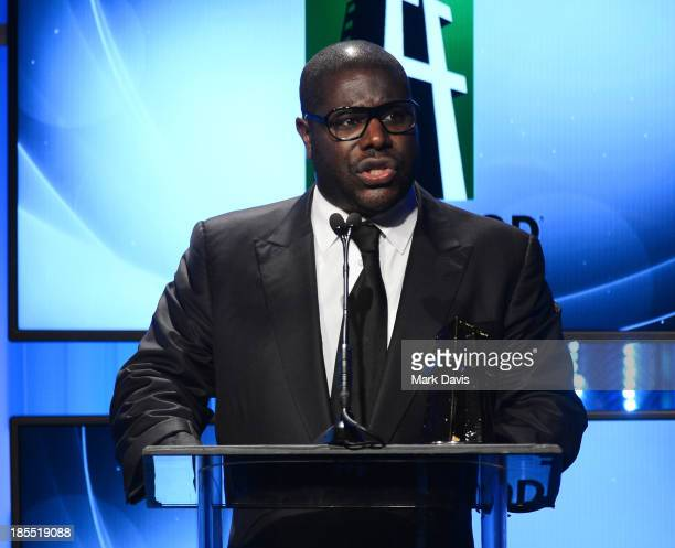 Director Steve McQueen accepts the Hollywood Breakout Director Award for '12 Years a Slave' during the 17th annual Hollywood Film Awards at The...