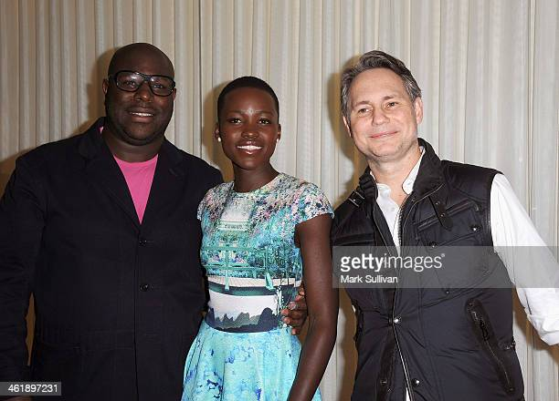 Director Steve McQueen actress Lupita Nyong'o and DuJour publisher Jason Binn attend DuJour Magazine's celebration of The Great Performances issue...