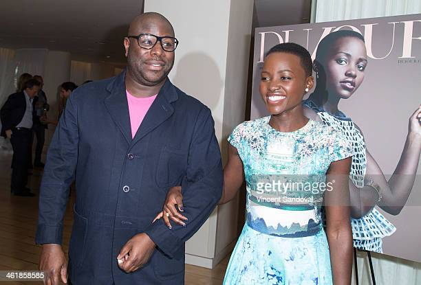 Director Steve McQueen and actress Lupita Nyong'o attend the DuJour Magazine celebrates great performances issue featuring 12 Years A Slave Golden...