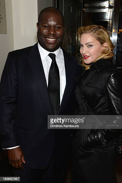 Director Steve McQueen and Madonna attend the 12 Years A Slave premiere during the 51st New York Film Festival at The Film Society of Lincoln Center...