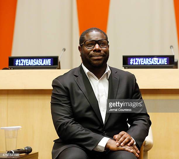Director Steve McQueen at a QA following a special screening of 12 Years A Slave at the ECOSOC Chamber at the United Nations on February 26 2014 in...