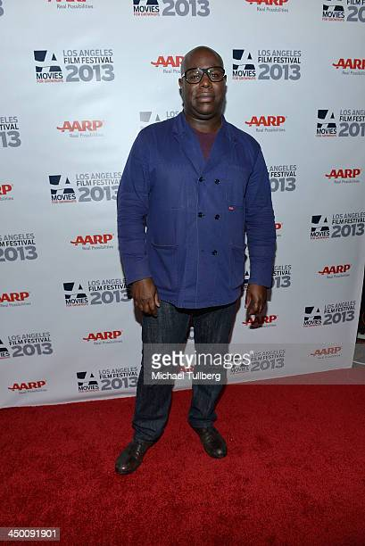 Director Steve McQueen attends a screening of 12 Years A Slave at AARP's Movies For Grownups Film Festival 2013 at Regal Cinemas LA Live on November...