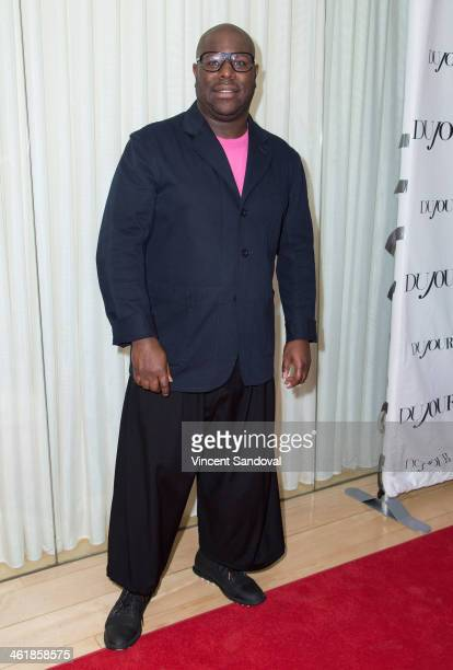 Director Steve McQueen attends the DuJour Magazine celebrates great performances issue featuring 12 Years A Slave Golden Globe Nominee Lupita Nyong'o...