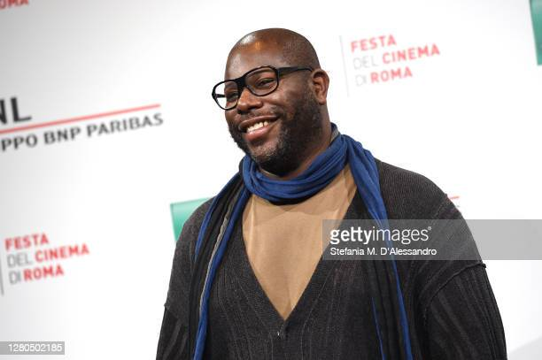 """Director Steve McQueen attends the photocall of the movie """"Small Axe - Ep. Red White and Blue"""" during the 15th Rome Film Festival on October 16, 2020..."""