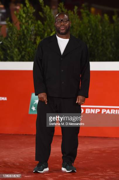 """Director Steve McQueen attends the red carpet of the movie """"Small Axe - Ep. Red White and Blue"""" during the 15th Rome Film Festival on October 16,..."""