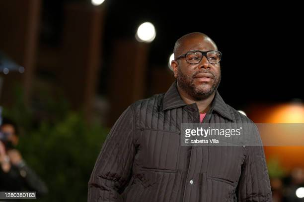 """Director Steve McQueen attends the red carpet of the movie """"Soul"""" during the 15th Rome Film Festival on October 15, 2020 in Rome, Italy."""