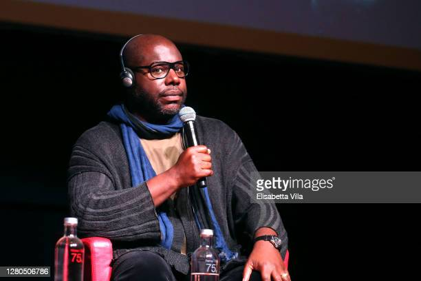"""Director Steve McQueen attends the """"Small Axe - Ep. Red White and Blue"""" Press Conference during the 15th Rome Film Festival on October 16, 2020 in..."""