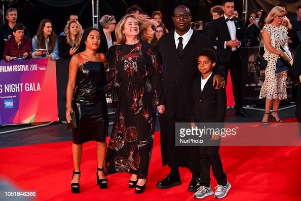 Director Steve McQueen, wife Bianca Stigter, son Dexter ...