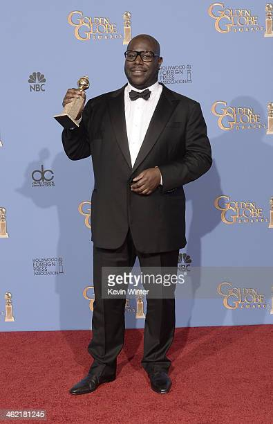 Director Steve McQueen winner of Best Motion Picture Drama for '12 Years a Slave' poses in the press room during the 71st Annual Golden Globe Awards...