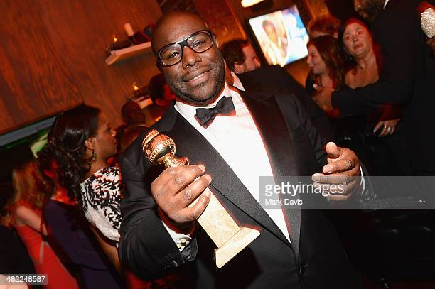 Director Steve McQueen winner of Best Motion Picture Drama for '12 Years a Slave' attends the Fox And FX's 2014 Golden Globe Awards Party on January...