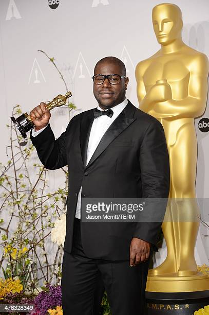 Director Steve McQueen winner of Best Picture for 12 Years a Slave poses in the press room during the Oscars at Loews Hollywood Hotel on March 2 2014...