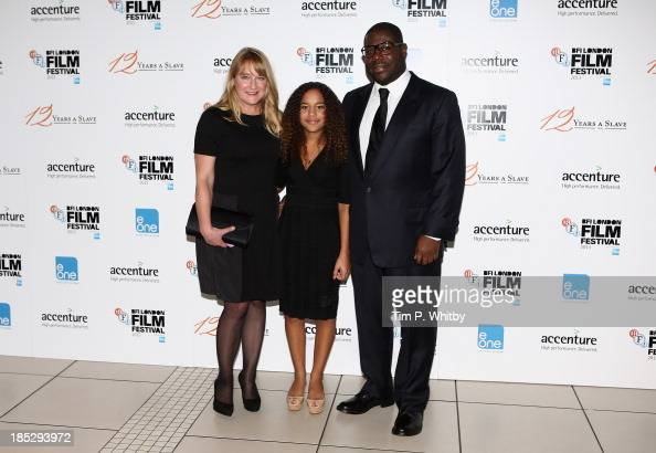 Director Steve McQueen with his wife Bianca Stigter and ...